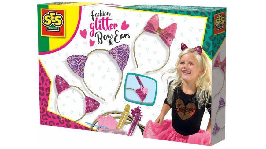 SES Creative Fashion Glitter Haarreifen Schleife und Ohren
