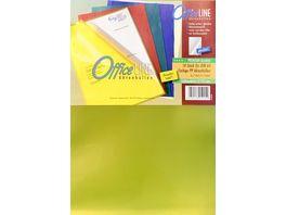 OfficeLINE Aktenhuellen A4 farbig sortiert glasklar 10 Stueck