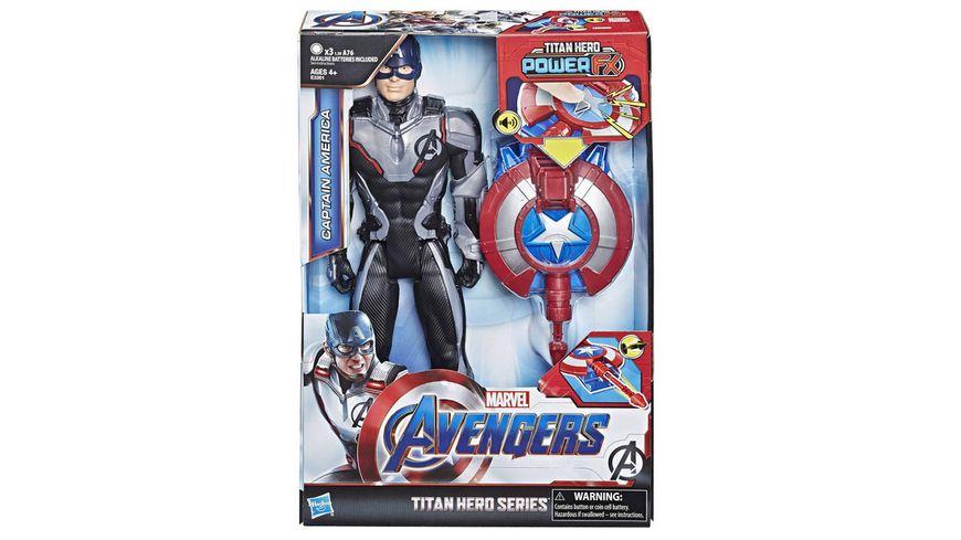 Hasbro Avengers Titan Hero Captain America mit Power FX Pack
