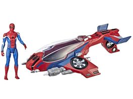 Hasbro Spider Man Far From Home Spider Jet mit Spider Man