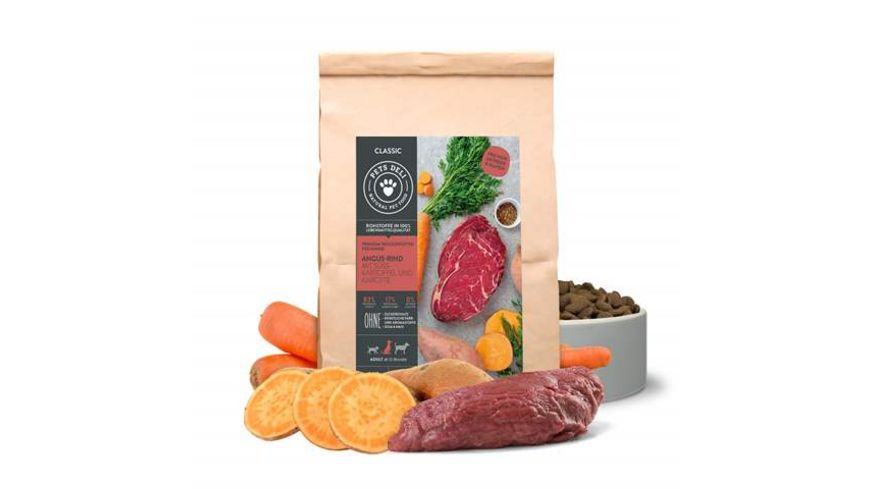 PETS DELI Trockenfutter Classic Angus Rind fuer Hunde