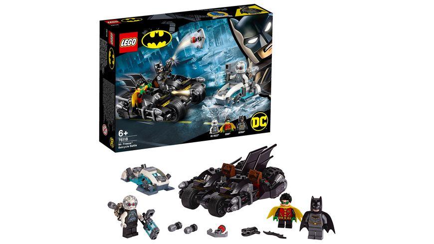 LEGO DC Comics Super Heroes 76118 Batcycle Duell mit Mr Freeze