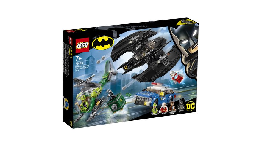 LEGO DC Comics Super Heroes 76120 Batman Batwing und der Riddler Ueberfall