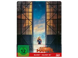 Captain Marvel Steelbook Blu ray 2D