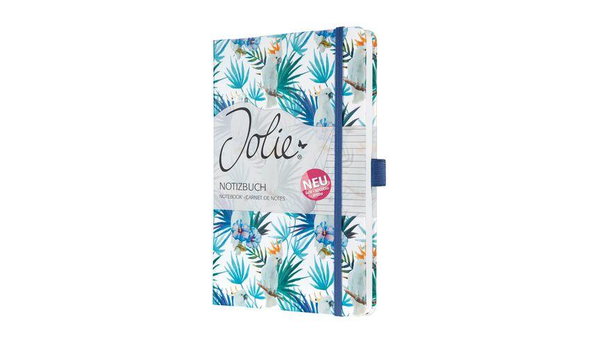 sigel Notizbuch Jolie®  Indigo Tropics liniert 135x203x16 mm