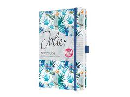 sigel Notizbuch Jolie Indigo Tropics liniert 135x203x16 mm