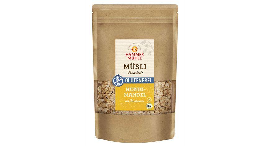 HAMMERMÜHLE Bio Roasted Müsli Honig-Mandel mit Hanfsamen - glutenfrei