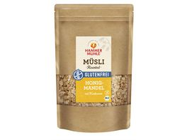 HAMMERMUeHLE Bio Roasted Muesli Honig Mandel mit Hanfsamen glutenfrei