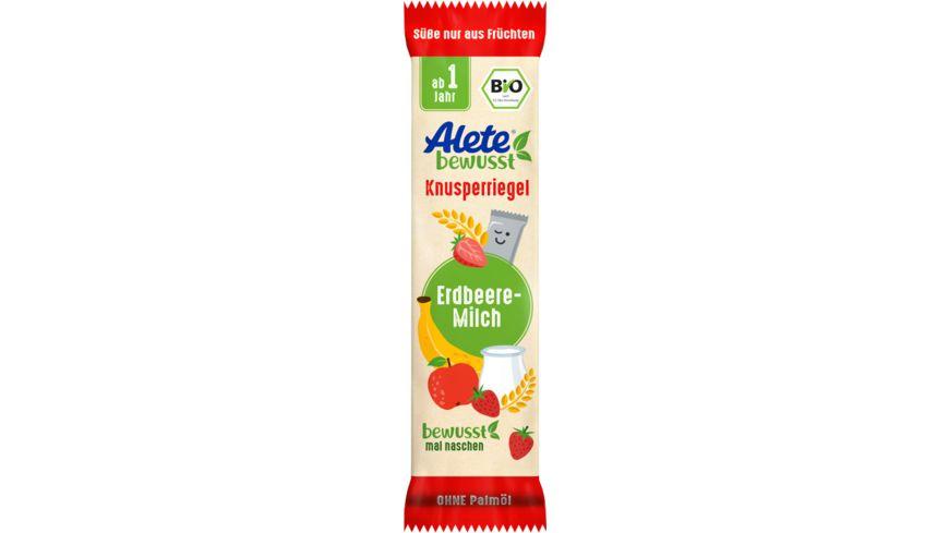 Alete Knusperriegel Erdbeere & Milch