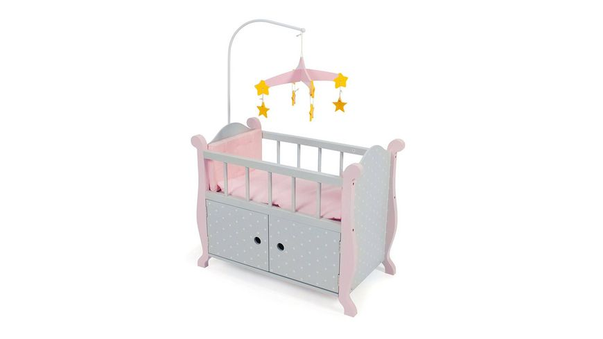 Bayer Chic 2000 Puppenbett mit Mobile Puntos Grey