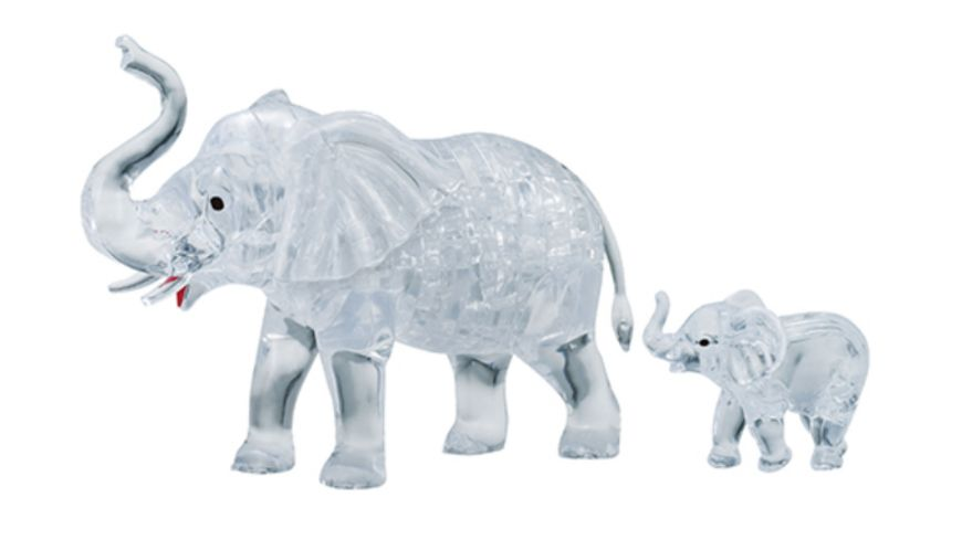 HCM Kinzel Crystal Puzzle Elefantenpaar