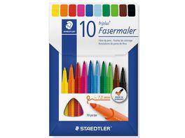 STAEDTLER Fasermaler triplus color 10er Etui