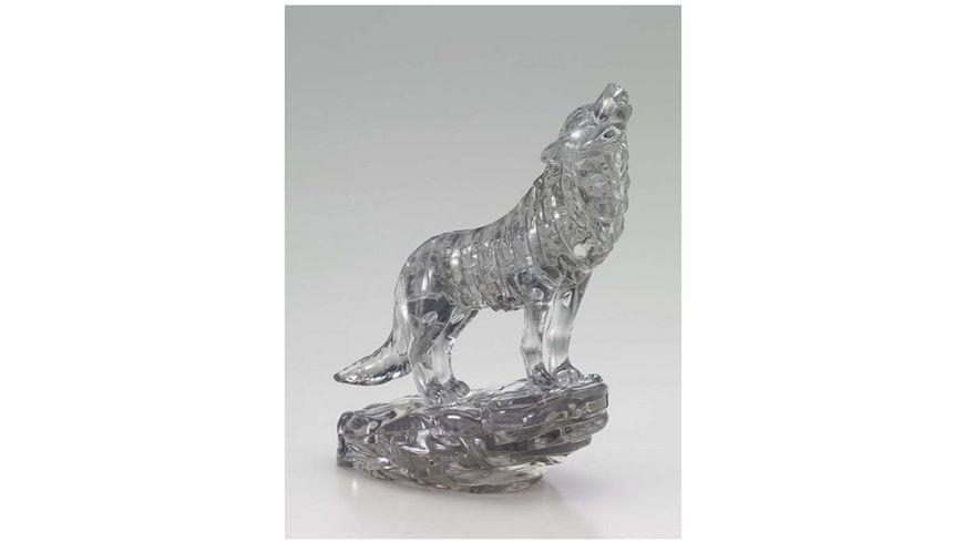 HCM Kinzel Crystal Puzzle Wolf Schwarz