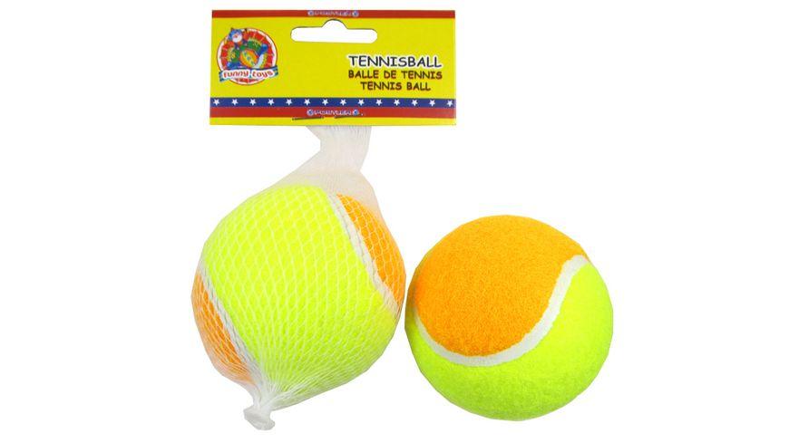 Postler Tennisball 7 cm 2 farbig 1 Stueck im Netz