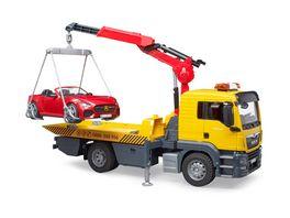 BRUDER MAN TGS Abschlepp LKW mit Roadster und Light Sound Module 03750
