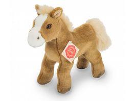 Teddy Hermann Plueschtier Pferd mit Stimme hellbraun 19 cm