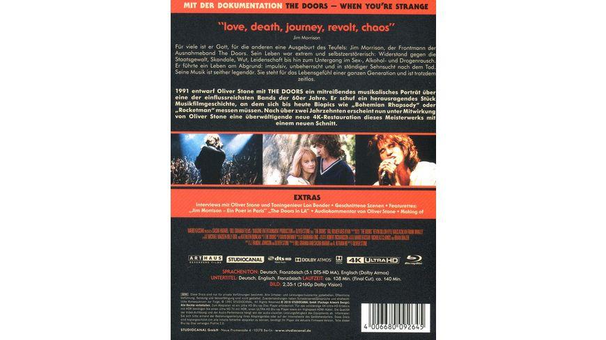 The Doors The Final Cut Limited Steelbook Edition 4K Ultra HD 2 Bonus Blu rays