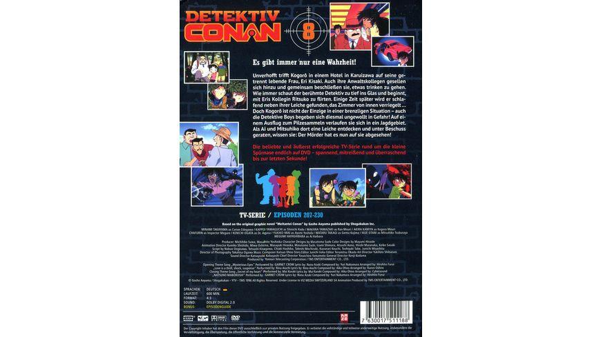 Detektiv Conan TV Serie DVD Box 8 Episoden 207 230 5 DVDs
