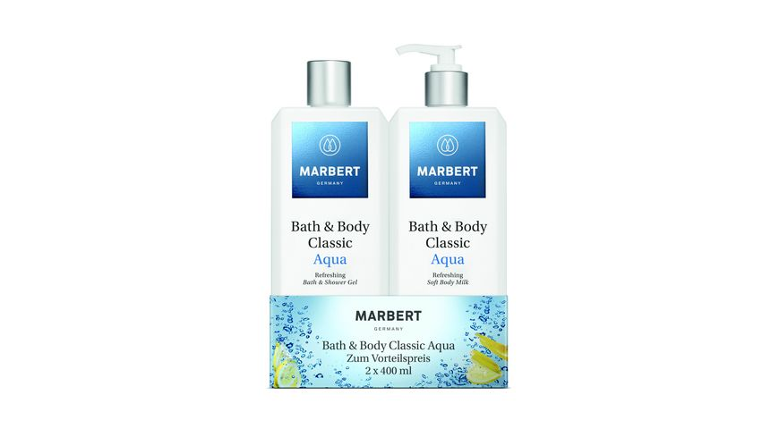 MARBERT Bath Body Classic Aqua Bundle