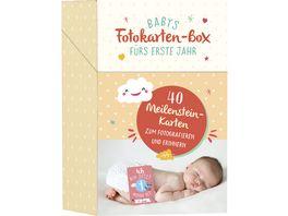 Babys Fotokarten Box fuers erste Jahr