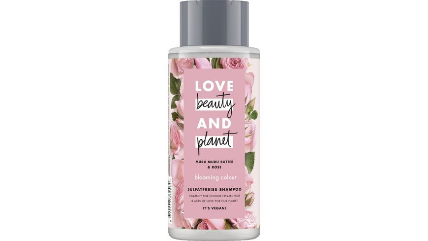 LOVE beauty AND planet Blooming Colour Shampoo Murumuru Butter Rose
