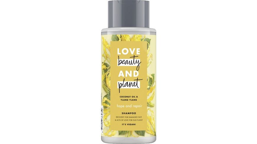 LOVE beauty AND planet Hope Repair Shampoo Coconut Oil Ylang Ylang Flower