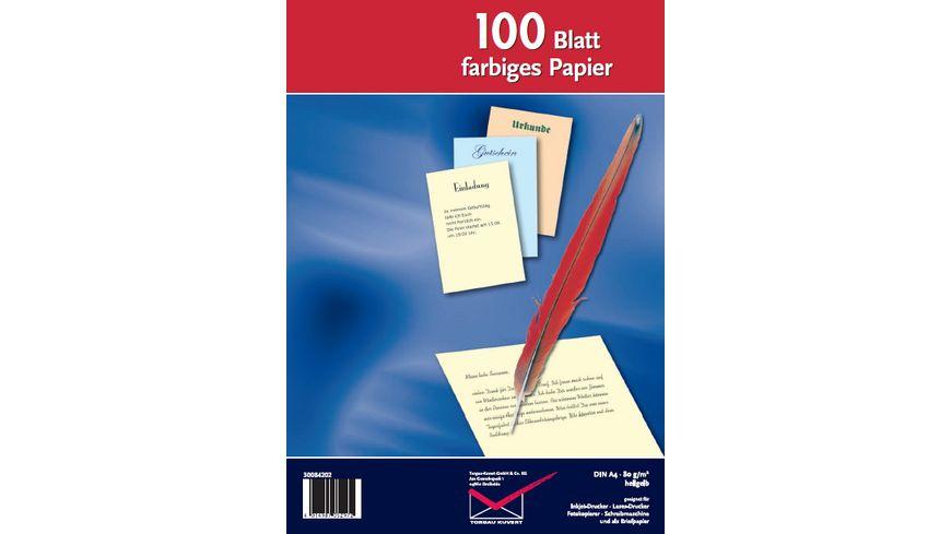 TORGAU Inkjet Laser und Kopierpapier A4 hellgelb