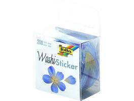 folia Washi Sticker Blueten blau