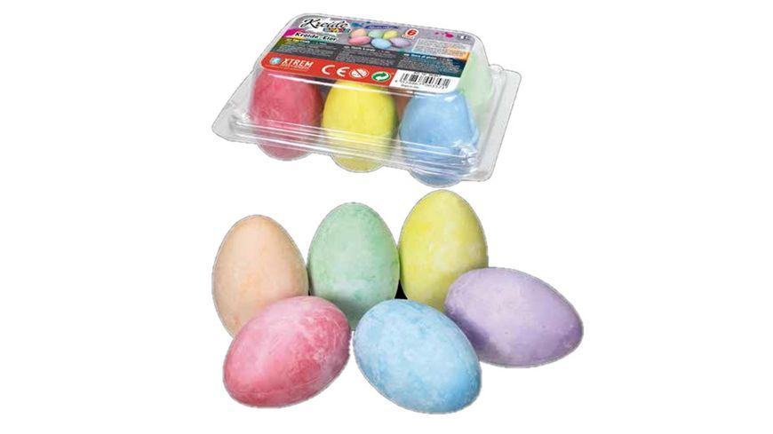 Kreide Spass Strassenmalkreide Eier im 6er Set