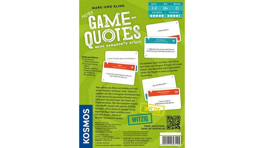 KOSMOS More Game of Quotes Neue verrueckte Zitate
