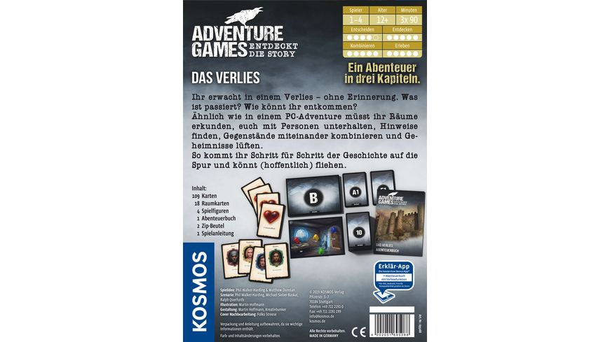 KOSMOS Adventure Games Das Verlies Entdeckt die Story