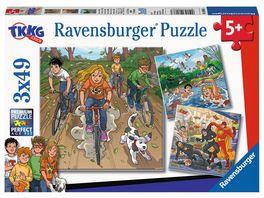 Ravensburger Puzzle TKKG Abenteuer mit TKKG 3x49 Teile