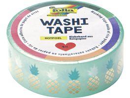 folia washi Tape Hotfoil Ananas gold