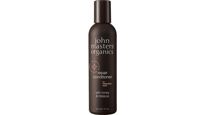 john masters organics repair conditioner for damaged hair with honey hibiscus