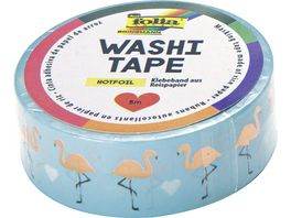 folia washi Tape Hotfoil Flamingos rose gold