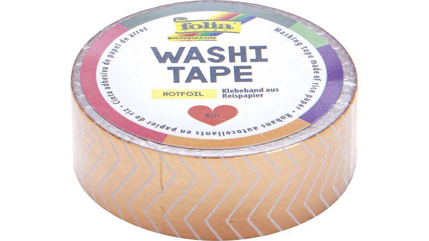 folia washi Tape Hotfoil Streifen gold