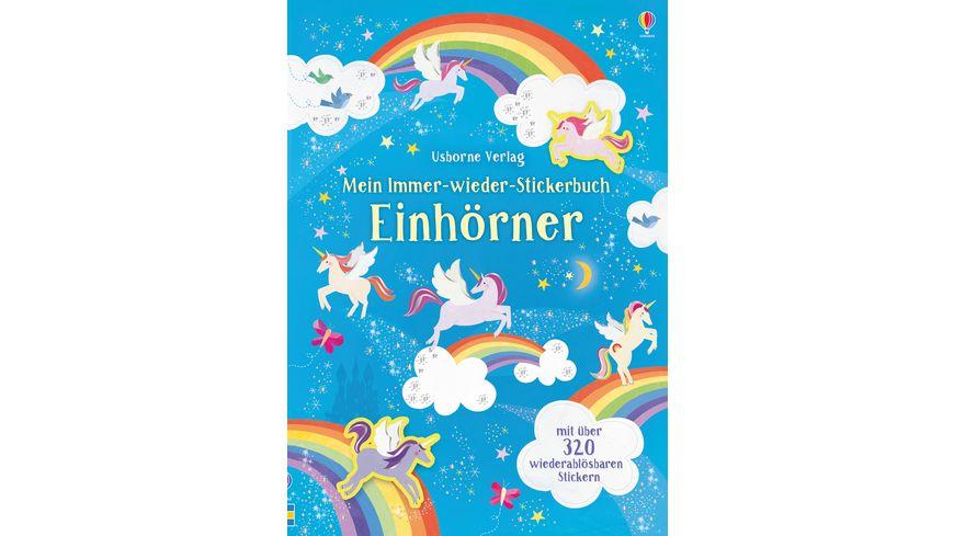 Mein Immer wieder Stickerbuch Einhoerner
