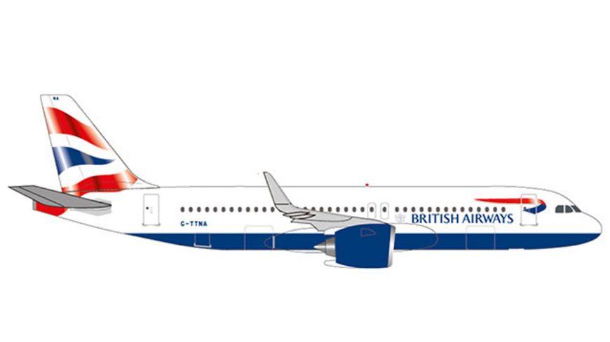 Herpa 532808 Wings British Airways Airbus A320 neo