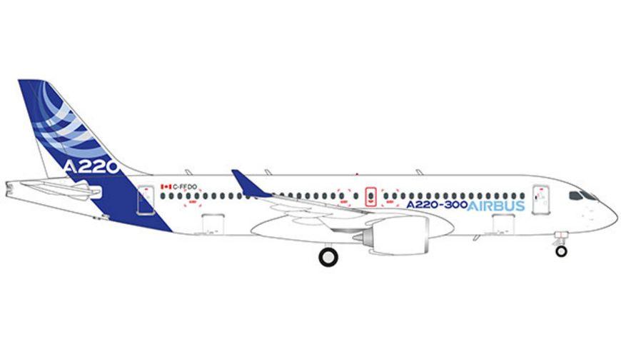 Herpa 532822 Wings Airbus Airbus A220 300