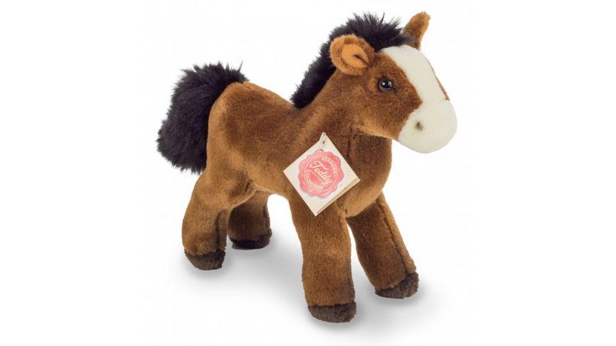Teddy-Hermann - Pferd mit Stimme rotbraun, 19 cm