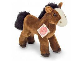 Teddy Hermann Pferd mit Stimme rotbraun 19 cm