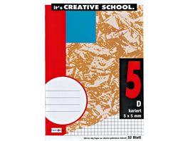 PAPERZONE Heft A5 Lineatur 5 32 Blatt