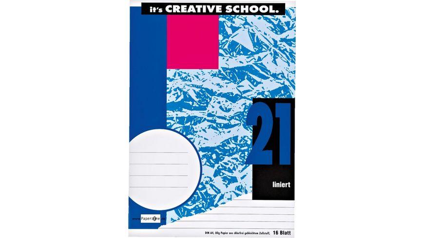 PAPERZONE Heft A4 Lineatur 21 16 Blatt