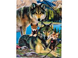 Gummizugmappe A4 Wolf 2019