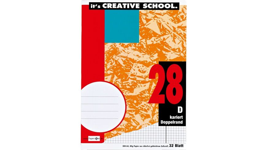 PAPERZONE Heft A4 Lineatur 28 32 Blatt