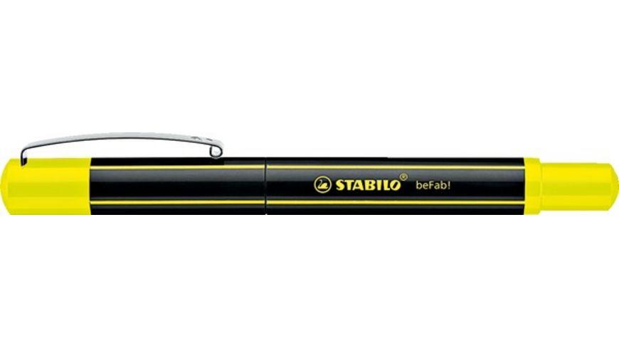 STABILO Fueller beFab Stripes neongelb