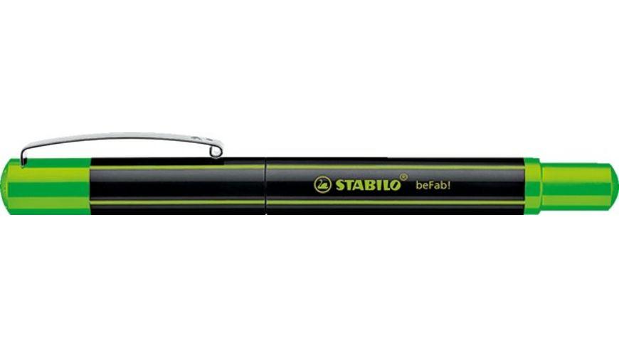 STABILO Fueller beFab Stripes neongruen