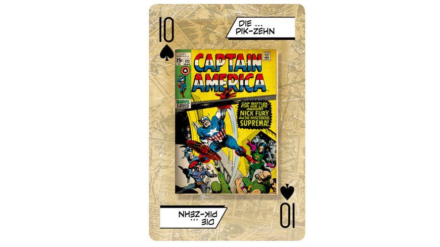 Winning Moves Number 1 Spielkarten Marvel Comics Retro