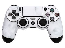 Skins Sticker fuer PS4 Controller White Marble