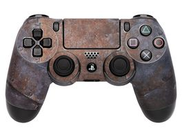 Skins Sticker fuer PS4 Controller Rusty Metal